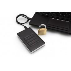 """SSD (külső memória), 256GB, USB 3.1, 256 bit AES hardveres titkosítás, GDPR, VERBATIM, """"Secure Portable"""" fekete"""