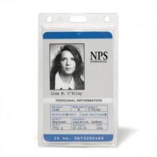 Azonosítókártya tartó, műanyag, függőleges, 61x104 mm, 3L