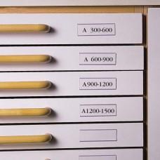 Címketartó zseb, 30x150 mm, fiókhoz, 3L