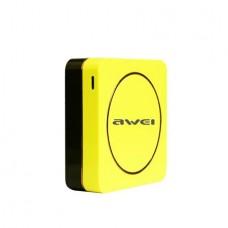 Hordozható akkumulátor, 6000 mAh, 3 x USB, AWEI