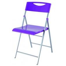 Összecsukható szék, fém és műanyag, ALBA