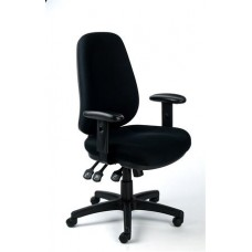 Irodai szék, állítható karfás, exkluzív fekete szövetborítás, fekete lábkereszt, MAYAH