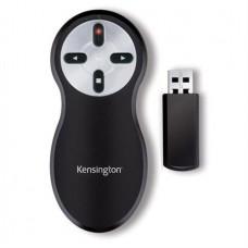 Prezentációs távirányító, lézermutatóval, vezeték nélküli, KENSINGTON