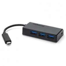 USB elosztó-HUB, 4 port, USB-C, KENSINGTON