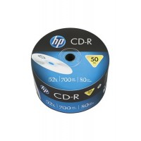CD-R lemez, 700MB, 52x, zsugor csomagolás, HP