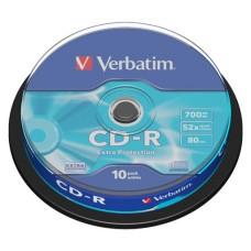 CD-R lemez, 700MB, 52x, hengeren, VERBATIM