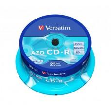 CD-R lemez, Crystal bevonat, AZO, 700MB, 52x, hengeren VERBATIM