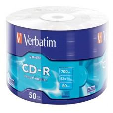 CD-R lemez, 700MB, 52x, zsugor csomagolás, VERBATIM