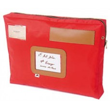 Postázó tasak, 42x5x32 cm, ALBA, piros