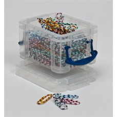 Műanyag tárolódoboz, átlátszó, apró irodai kellékek számára, 0,14 liter , REALLY USEFUL