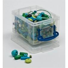 Műanyag tárolódoboz, átlátszó, névjegyek számára, 0,3 liter, REALLY USEFUL