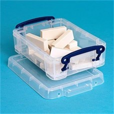 Műanyag tárolódoboz, átlátszó, 0,75 liter, REALLY USEFUL