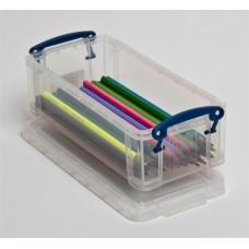 Műanyag tárolódoboz, átlátszó, tollak, ceruzák számára, 0,9 liter, REALLY USEFUL