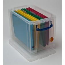 Műanyag tárolódoboz, függőmappák, iratrendezők és dokumentumok tárolására, 19 liter, REALLY USEFUL