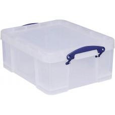 Műanyag tárolódoboz, átlátszó, 21 liter, REALLY USEFUL