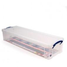 Műanyag tárolódoboz, átlátszó, 22 liter, REALLY USEFUL