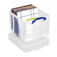 Műanyag tárolódoboz, bakelitek, iratrendezők tárolására, 35 liter, REALLY USEFUL