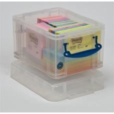 Műanyag tárolódoboz, CD és DVD lemezek tárolására, 3 liter, REALLY USEFUL