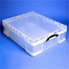 Műanyag tárolódoboz, átlátszó, 70 liter, REALLY USEFUL