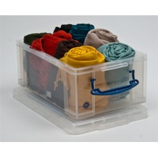 Műanyag tárolódoboz, átlátszó, A4 méretű papírok tárolására, 9 liter, REALLY USEFUL