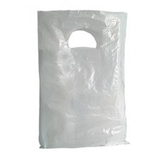 Piskótafüles tasak, fehér, 20x30 cm