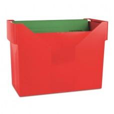 Függőmappa tároló, műanyag, 5 db függőmappával, DONAU, piros