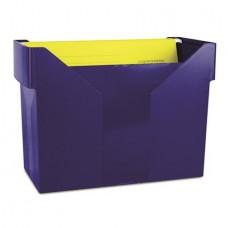 Függőmappa tároló, műanyag, 5 db függőmappával, DONAU, sötétkék