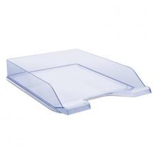 Irattálca, műanyag, DONAU, áttetsző kék
