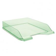 Irattálca, műanyag, DONAU, áttetsző zöld
