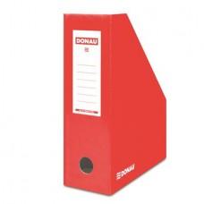 Iratpapucs, karton, 100 mm, DONAU, piros