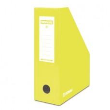 Iratpapucs, karton, 100 mm, DONAU, citromsárga