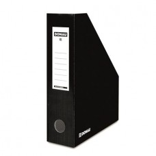 Iratpapucs, karton, 80 mm, DONAU, fekete