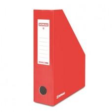 Iratpapucs, karton, 80 mm, DONAU, piros