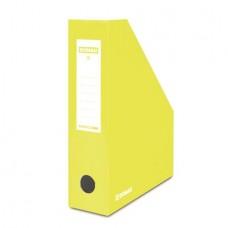 Iratpapucs, karton, 80 mm, DONAU, citromsárga