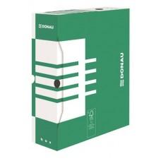 Archiváló doboz, A4, 100 mm, karton, DONAU, zöld