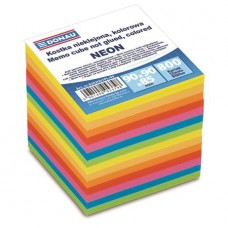 Kockatömb, 90x90x90 mm, DONAU, színes