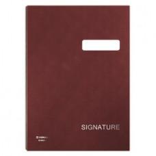 Aláírókönyv, A4, 19 elválasztó lappal, karton, DONAU, vörös