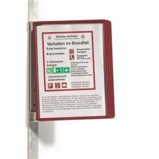 Bemutatótábla tartó, fali, mágneses, 5 db bemutatótáblával, DURABLE