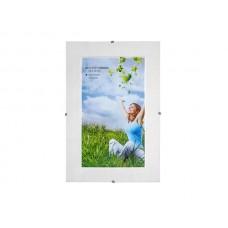 Képkeret, clipes, üveggel, 20x30 cm