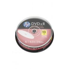 DVD+R lemez, nyomtatható, kétrétegű, 8,5GB, 8x, hengeren, HP