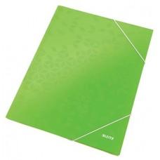 Gumis mappa, 15 mm, karton, A4, lakkfényű, LEITZ