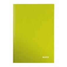 Beíró, A4, vonalas, 80 lap, keményfedeles, lakkfényű, LEITZ