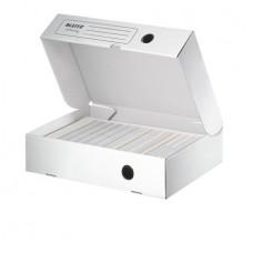 Archiváló doboz, A4, 80 mm, újrahasznosított karton, felfelé nyíló, LEITZ