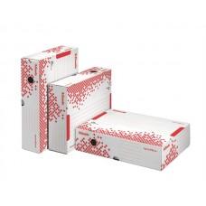 Archiváló doboz, A4, 80 mm, újrahasznosított karton, felfelé nyíló, ESSELTE
