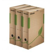 Archiválódoboz, A4, 80 mm, újrahasznosított karton, ESSELTE