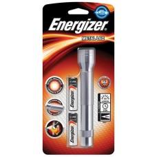 Elemlámpa, LED, 2xAA, fém ház, ENERGIZER