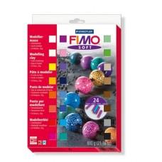 Gyurma készlet, 24x25 g, égethető, FIMO