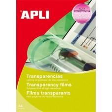 Fólia, írásvetítőhöz, A4, fénymásolóba, lehúzható vezetőcsíkkal, APLI