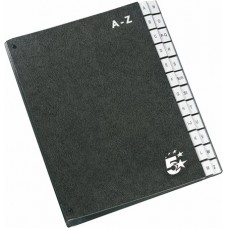 Előrendező, A4, A-Z, karton, 5 STAR, fekete