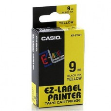 Feliratozógép szalag, 9 mm x 8 m, CASIO, sárga-fekete